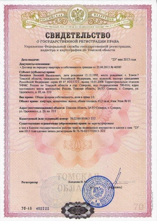 документы выдаваемые при приватизации квартиры Элвин